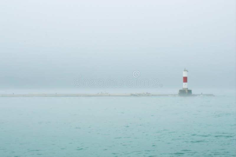 Kenosha Breakwater Light - Lake Michigan stock photo