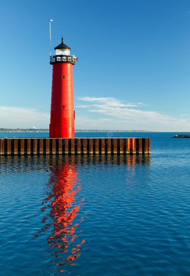 Kenosha, het Licht van Wisconsin Pierhead stock foto