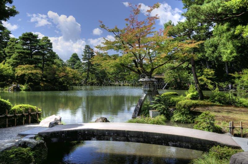 Kenroku-en - giardino giapponese a Kanazawa, Giappone immagini stock libere da diritti