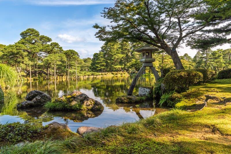 Kenroku-en jardín, Kanazawa, Ishikawa, Japón fotos de archivo