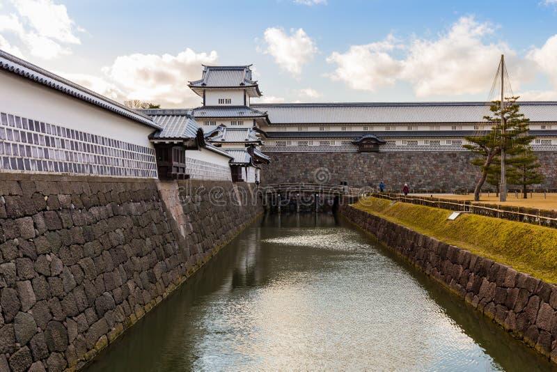 Kenrokuen庭院和今池城堡公园在今池,日本 免版税库存图片