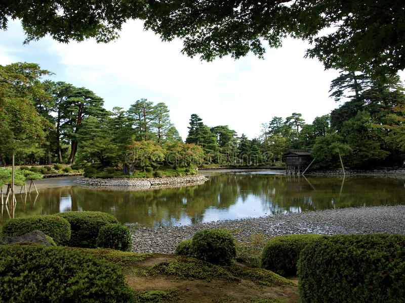 Kenrokuen庭院 免版税库存照片