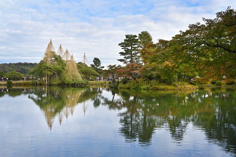 Kenrokuen Garden, Kanazawa, Japan royaltyfria foton