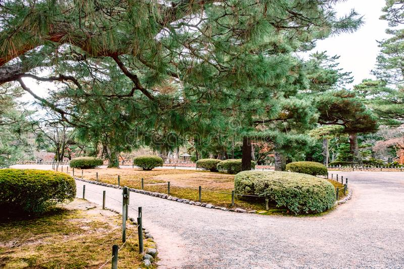 Kenrokuen garden in Kanazawa , Japan. Kenrokuen garden in Kanazawa , One of Japan`s`three most beautiful landscape gardens` in Japan royalty free stock photography