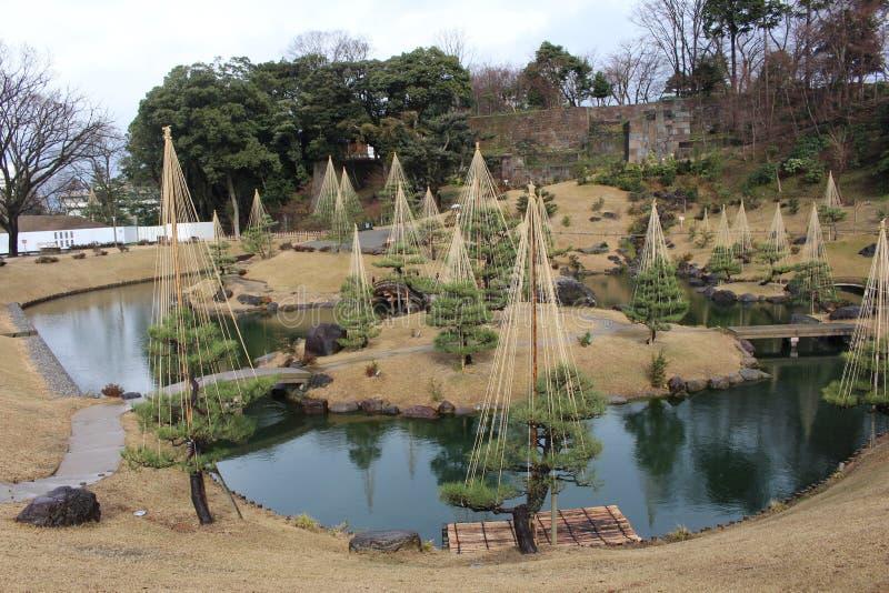 Kenrokuen trädgård royaltyfria foton