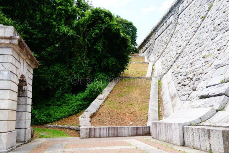 Kensico-Verdammungs-Piazza und Reservoir b 91 lizenzfreie stockfotos