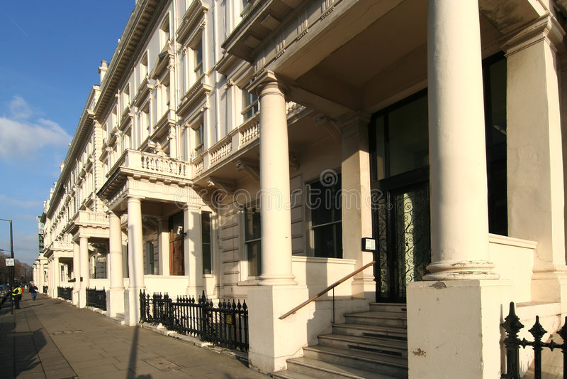 Kensington Mansions stock image