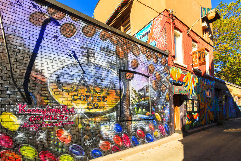 Kensington Market Graffiti Toronto Canada Editorial Image ...
