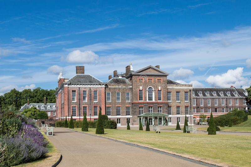 Kensington Palace entrance on a sunny day stock photo