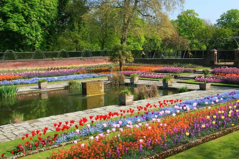Kensington Palace Sunken Gardens royalty free stock images
