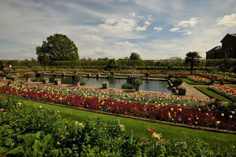 Kensingtontuinen, één de Koninklijke Parken van Londen, Engeland royalty-vrije stock afbeeldingen