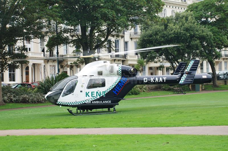 Kent Air Ambulance, le Sussex est images stock