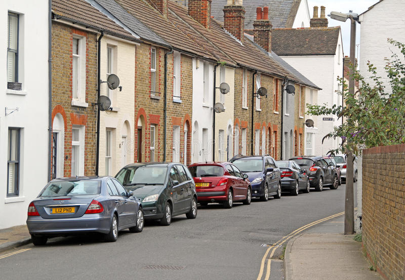 Kent country cottages road stock images