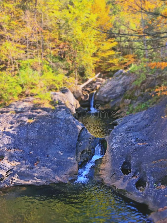 Kent falls brook in autumn. In Connecticut United States royalty free stock photos