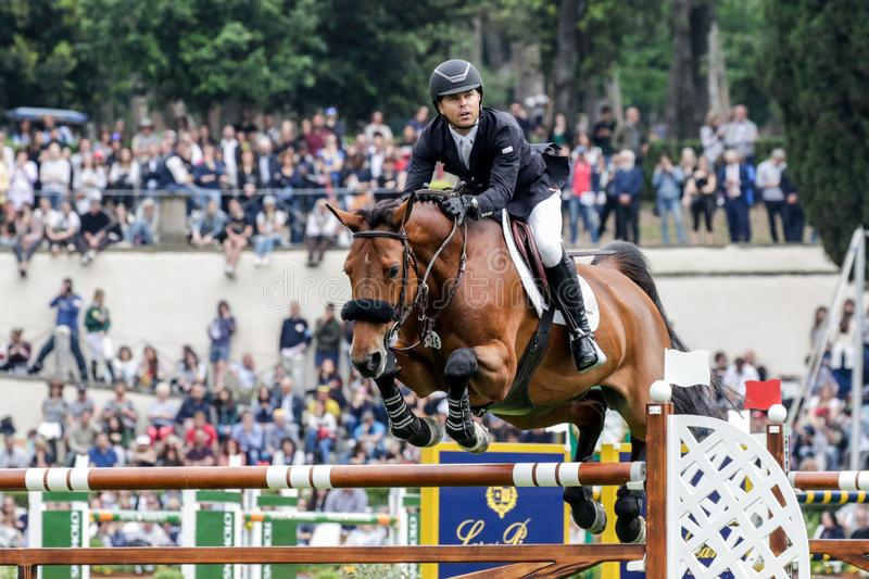 International Horse Riding 87° Csio Piazza Of Siena Roma 2019 - Premio Loro Piana stock photography