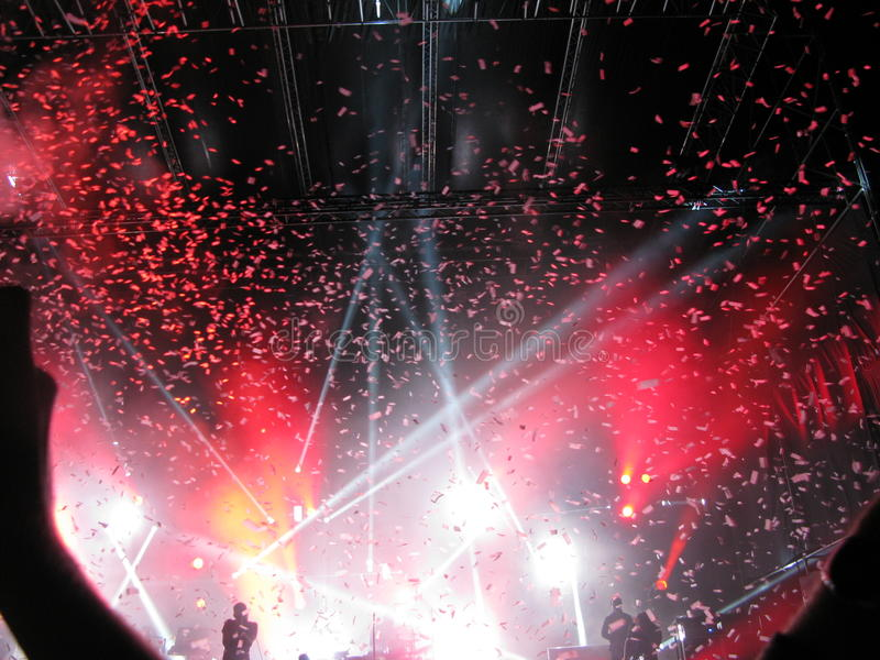 Kent leben im Konzert Oslo 2012 - das abschließende Lied lizenzfreies stockbild