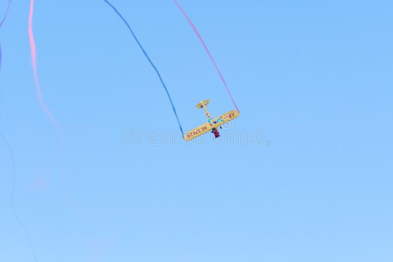 Kent Pietsch Aerobatics Interstate Cadet royaltyfri fotografi
