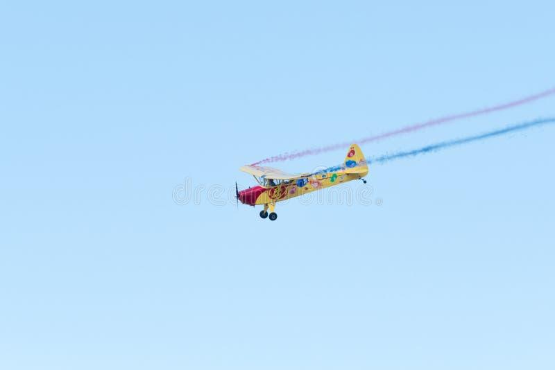 Kent Pietsch Aerobatics Interstate Cadet royaltyfria bilder