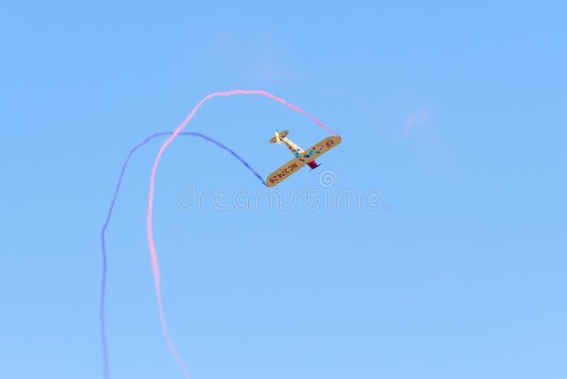 Kent Pietsch Aerobatics Interstate Cadet fotografering för bildbyråer