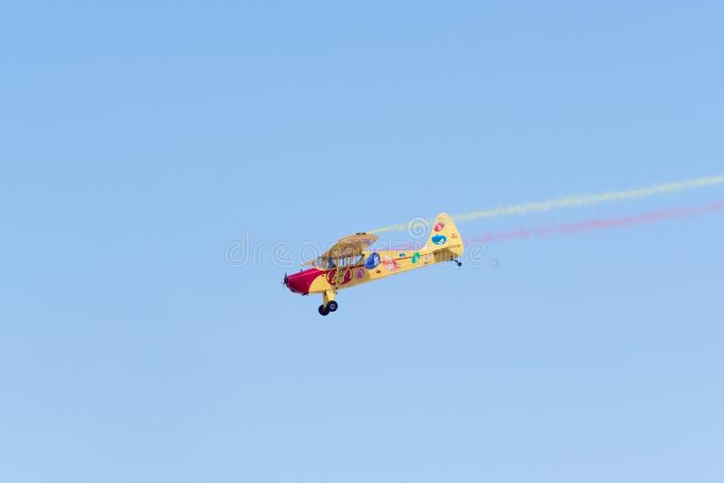 Kent Pietsch Aerobatics Interstate Cadet arkivbilder