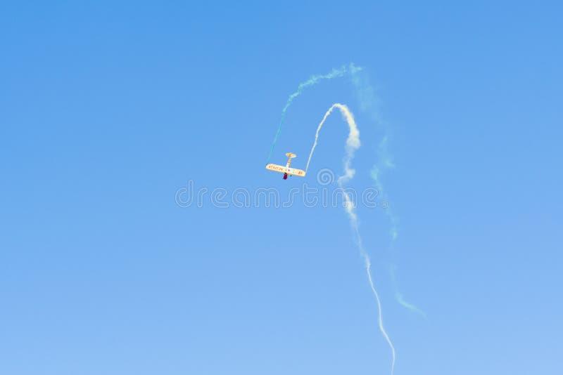 Kent Pietsch Aerobatics Interstate Cadet royaltyfri foto