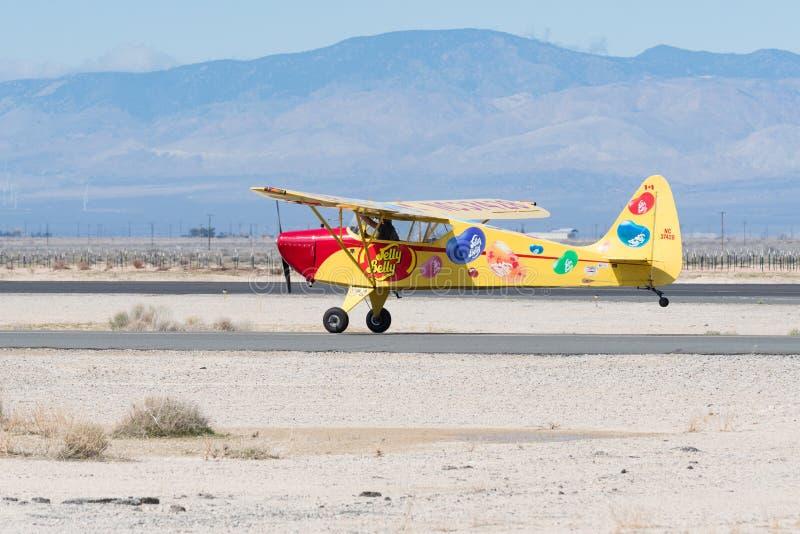 Kent Pietsch Aerobatics Interstate Cadet royaltyfri bild