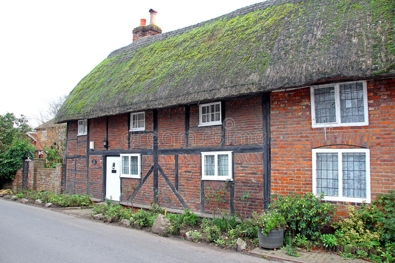 Kent thatched mews cottages royalty free stock photos