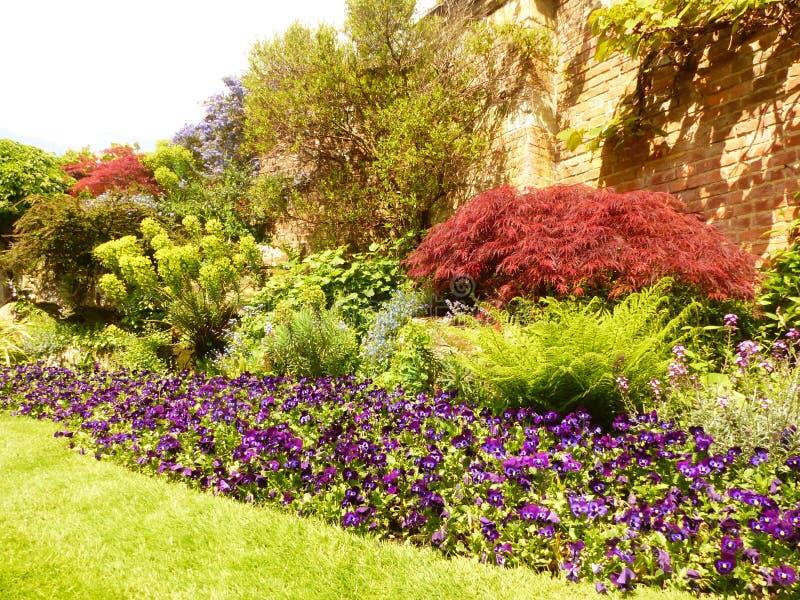 Kent trädgårdar av England arkivfoto