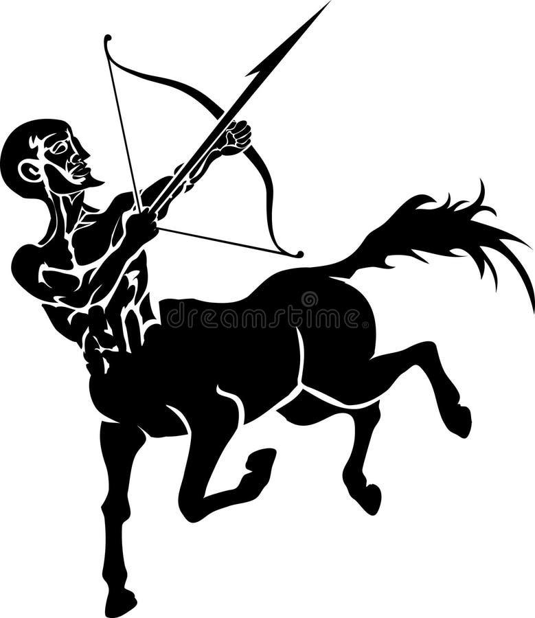 kentaur stock illustrationer