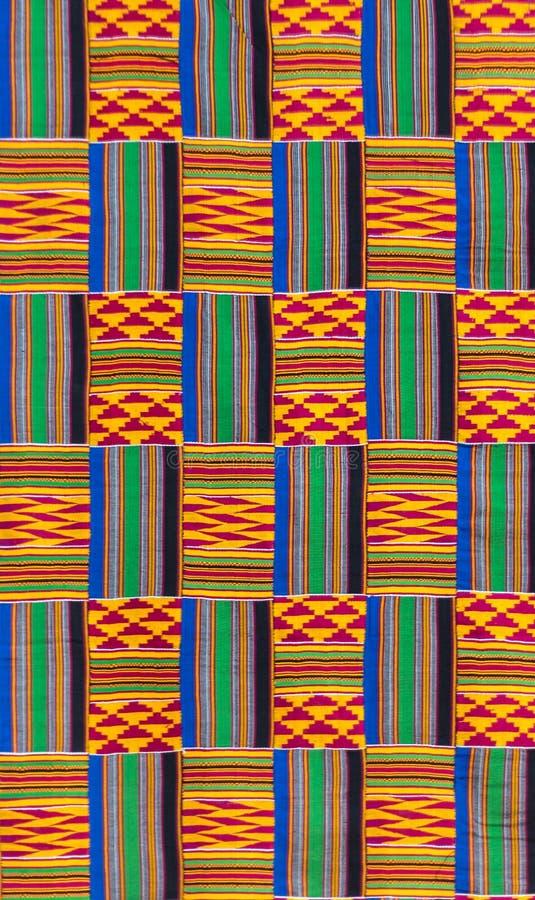 Kente cloth texture. Kente cloth, the garment worn by akans and ashanti royals, texture royalty free stock image