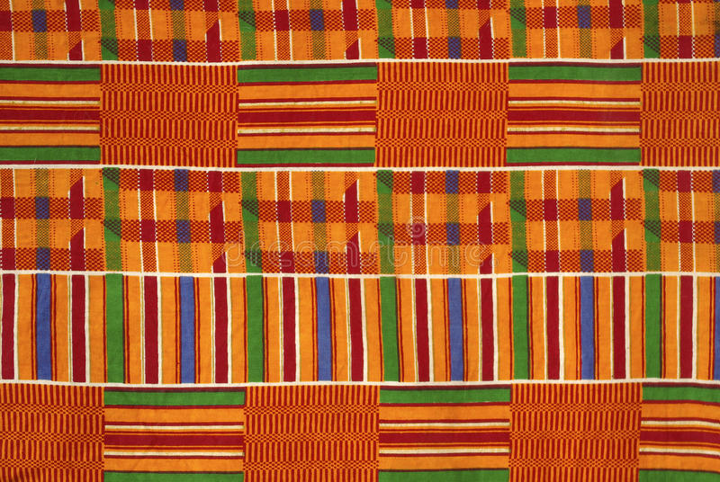 Kente Stoff Ghana lizenzfreie stockbilder
