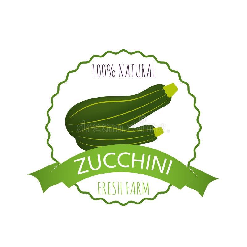 Kenteken, embleem of markering met realistische gezonde groenten vector illustratie