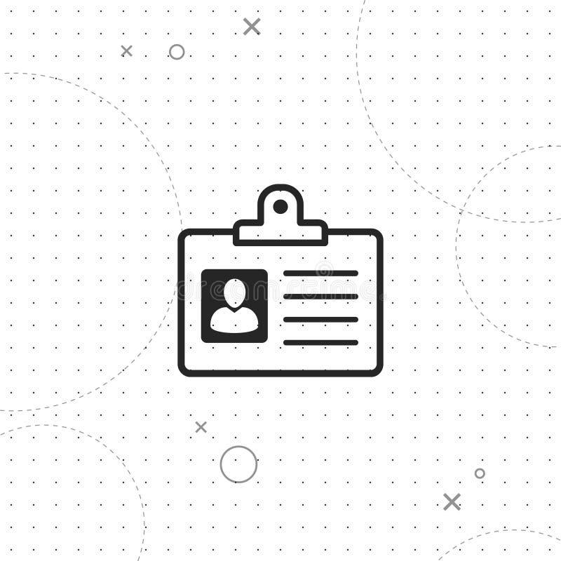 Kenteken, identificatie, vector beste vlak pictogram vector illustratie