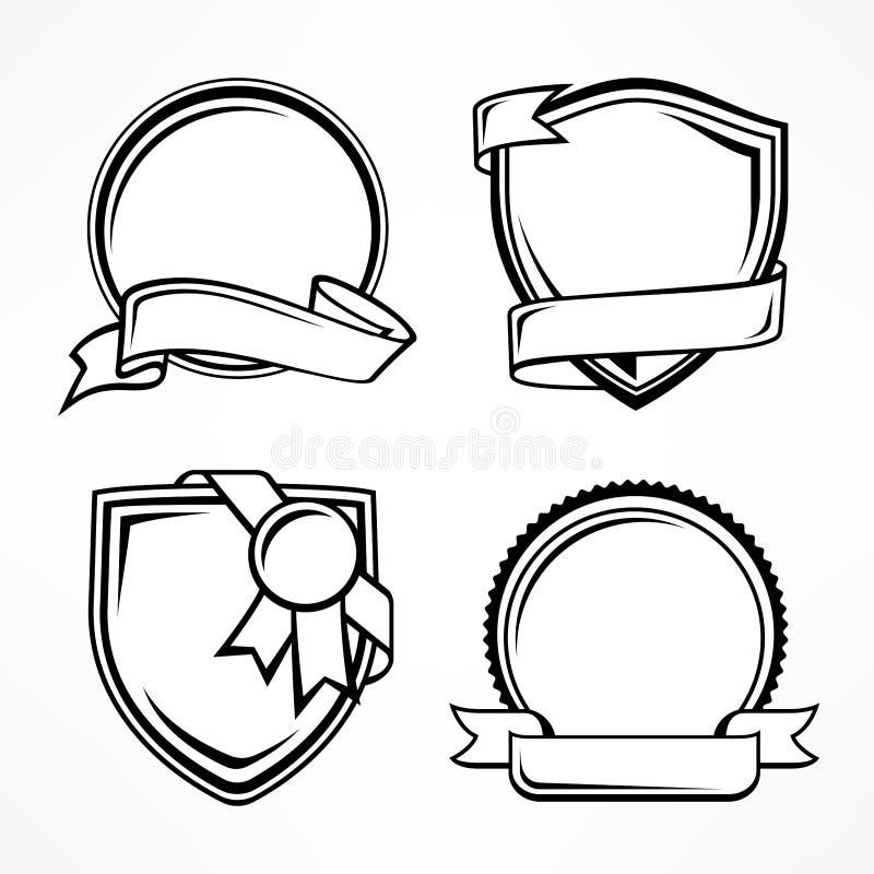 Kenteken op wit wordt geplaatst dat Vector illustratie royalty-vrije stock afbeeldingen