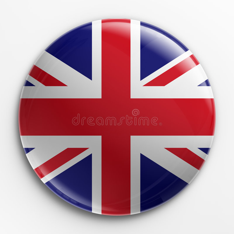 Kenteken - Union Jack stock illustratie