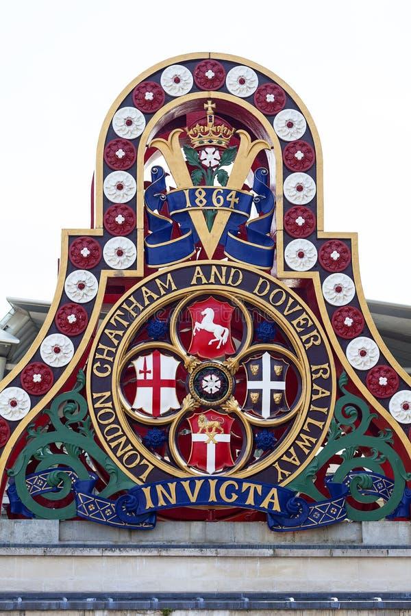 Kenteken van Londen Chatham en Dover Railway, Londen, het Verenigd Koninkrijk stock afbeelding
