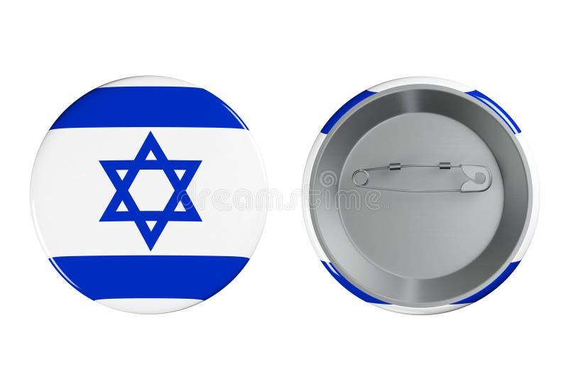Kentekens met de vlag van Israël stock illustratie