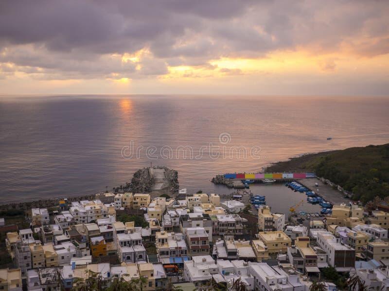 Kenting-Sonnenuntergang lizenzfreie stockfotos