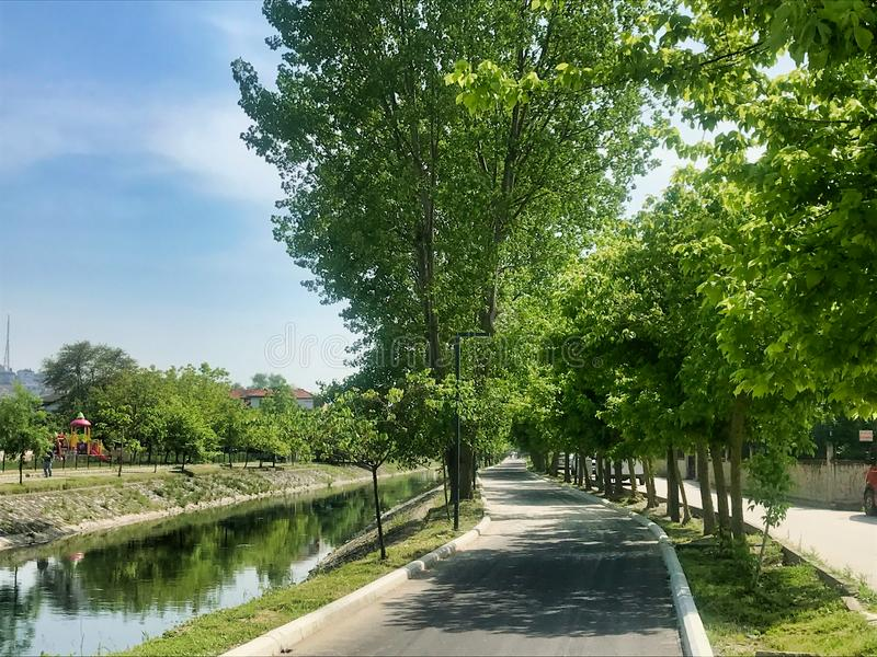 Kentpark, Sakarya, Turquia EM MAIO DE 2019 - vale de Cark imagem de stock royalty free