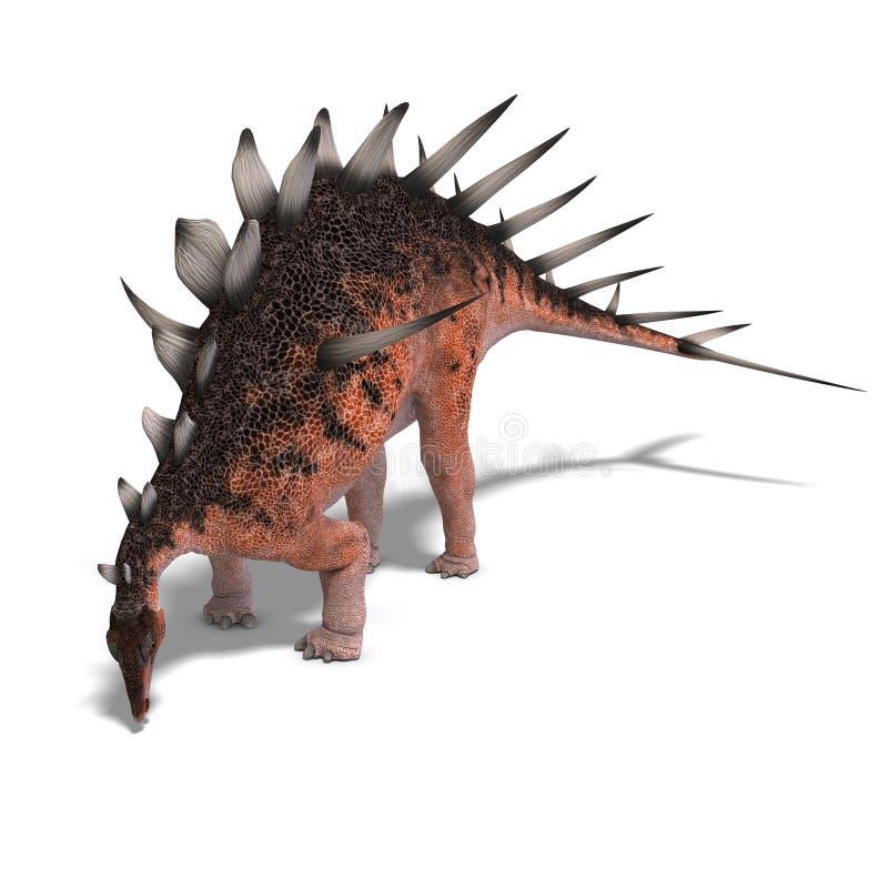 kentrosaurus гиганта динозавра иллюстрация вектора