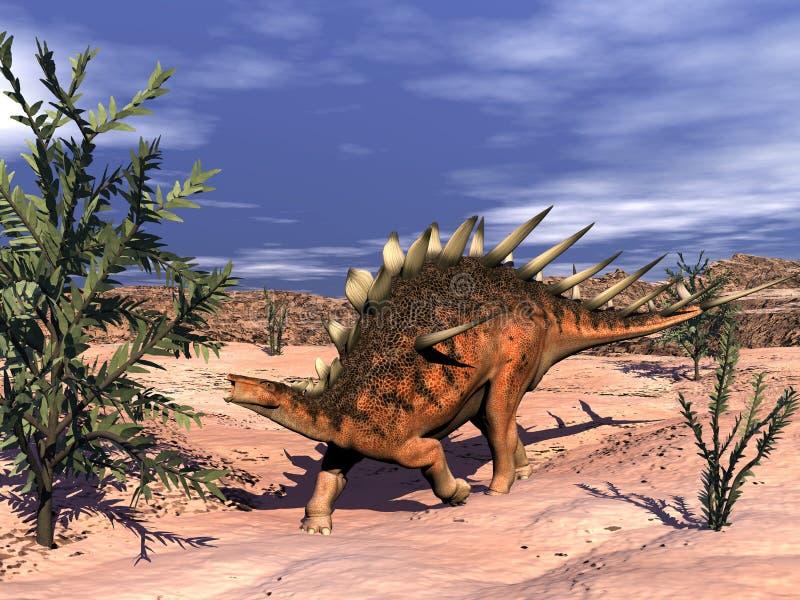 Kentrosaurusdinosaurie - 3D framför royaltyfri illustrationer