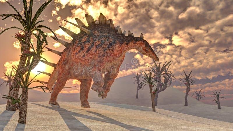 Kentrosaurusdinosaurie - 3D framför vektor illustrationer