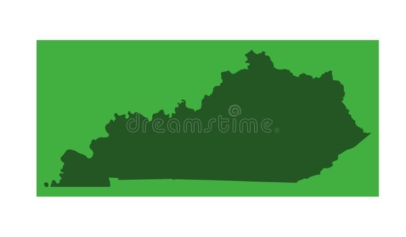 Kentucky översikt - brittiska samväldet av Kentucky royaltyfri illustrationer