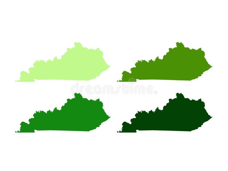 Kentucky översikt - brittiska samväldet av Kentucky vektor illustrationer
