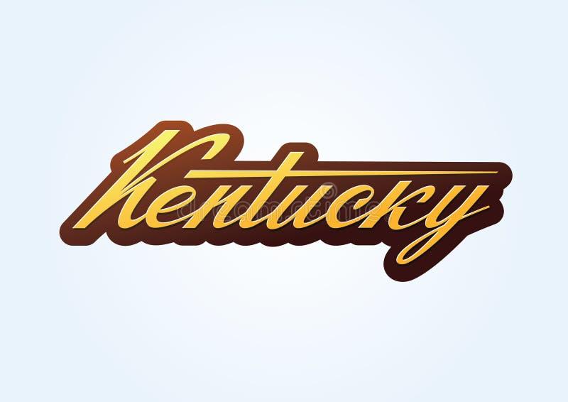 Kentucky-Bürste sript Vektorbeschriftung lizenzfreie abbildung