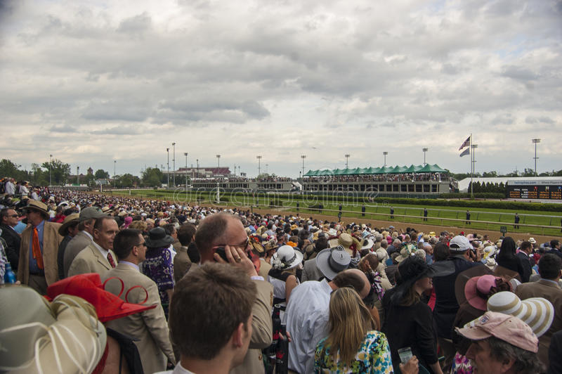 Kentucky Derby Crowd at Churchill Downs in Louisville, Kentucky USA stock photography