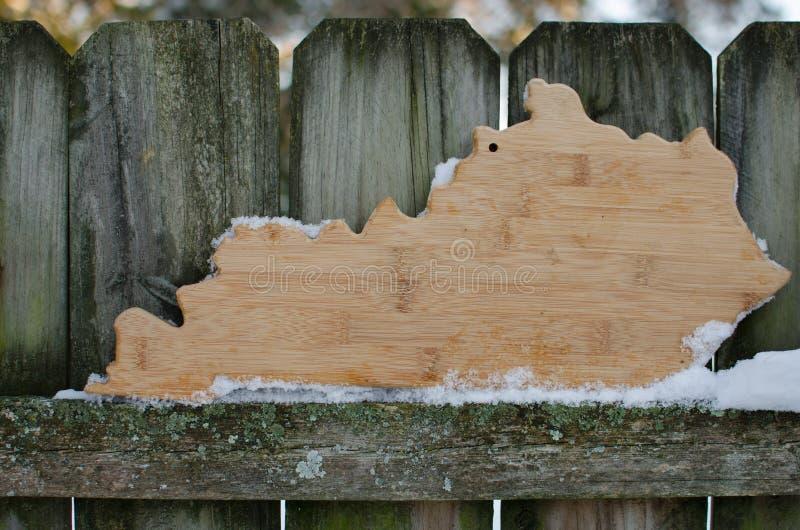 Kentucky-Form lizenzfreie stockfotografie
