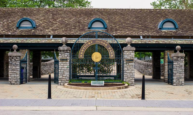 Kentucky Horse Park. Lexington, Kentucky. USA. June 1, 2015. The Kentucky Horse Park is a premier tourist attraction in Kentucky. Featuring champion thoroughbred royalty free stock photo
