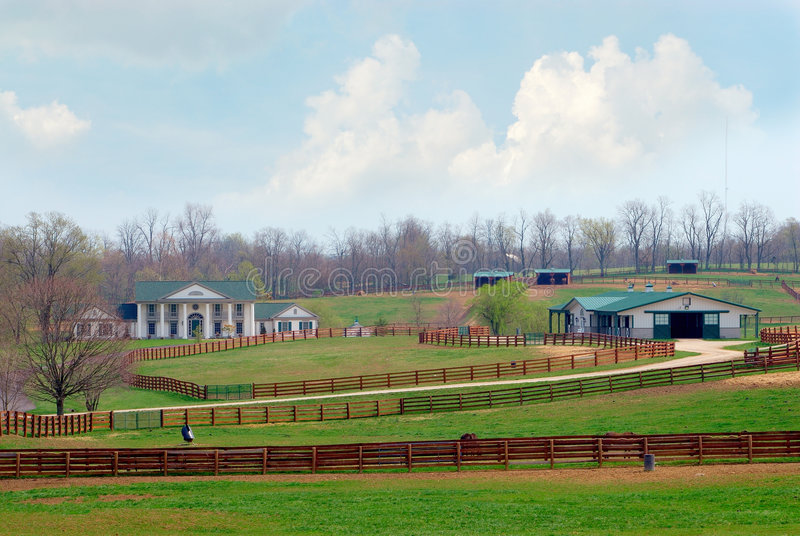 Download Kentucky Horse Ranch stock image. Image of farm, countryside - 2169627