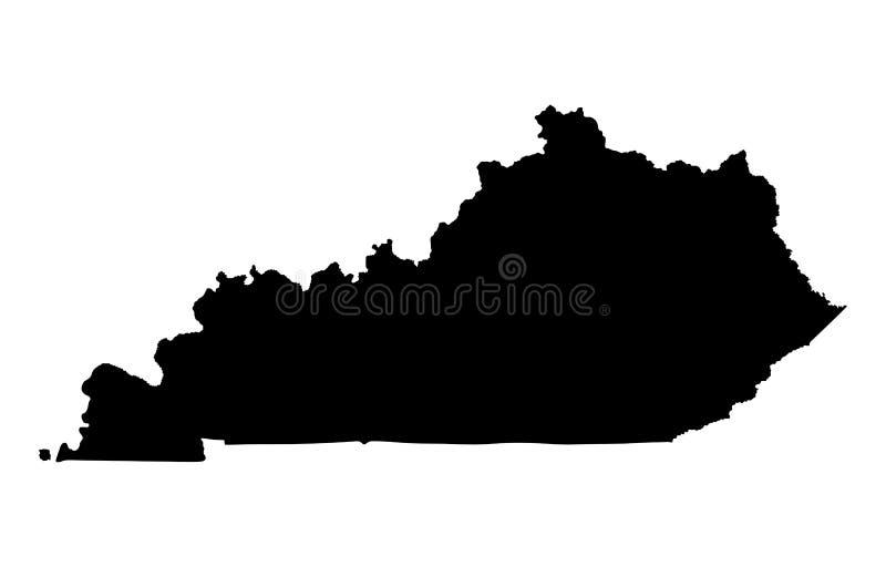 Kentucky mapy sylwetka ilustracja wektor
